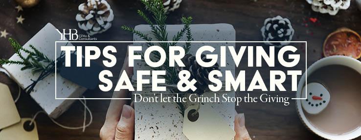 Tips for Giving Safe & Smart